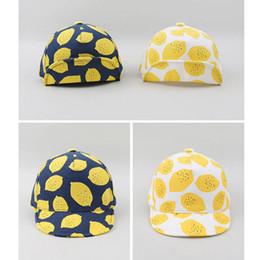 Free magic ball online shopping - Pure Cotton Baseball Cap Lemon Printing Fashion Lovely Magic Sticker Adjustable Baby Peaked Caps Sun Hat tj U U