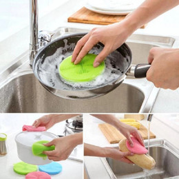 $enCountryForm.capitalKeyWord Canada - Magic Silicone Cleaning Brushes Coffee Cup Mat Scouring Pad Pot Pan Wash Brushes Dish Bowl Cleaner Kitchen Cleaning Tools 8 Colors YFA273