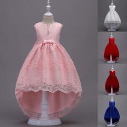 $enCountryForm.capitalKeyWord Canada - High Low Lace Flower Girl Dress Princess Wedding Birthday Party Teenage Children Clothes