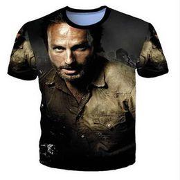 $enCountryForm.capitalKeyWord UK - The Walking Dead Rick Grimes Creative Design T-shirt Men Women Unisex 3D Print Short Sleeve Round Neck Undershirt Fitness Tops