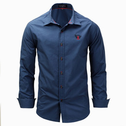 Wholesale slim fit polo dress shirts resale online - 2018 Long Sleeve Dress Shirts Slim Fit POLO Shirts Mens Spring Autumn Clothes Brand Clothing High Quality Green White Blue