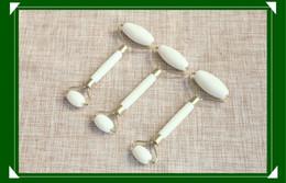 Massage double stick online shopping - Natural Xiuyan Jade Facial Eye Massage Stick Jade Roller Jade Push Double Head Roller Beauty Device