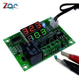 50-110c Red Blue Dual Led Display Ntc Sensor Waterp Digital Thermostat Regulator Dc 12v 10a Temperature Controller Adjustable
