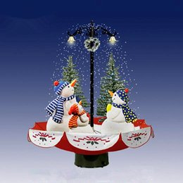 Discount electric beige - 1.7 m   170cm electric snowflake Christmas tree combination small scene Christmas mall hotel window ornaments