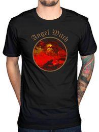 Vente en gros Tee-shirt officiel Angel STREGA LOGO CERCHIO Rock punk heavy metal, musique SATANA