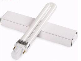 9w uv gel bulb online shopping - 9W electronic UV Lamp Nail Dryers Gel Curing Nail Art UV nail light Bulb