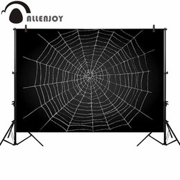 spider spray online shopping photography backdrop halloween spider web blackboard background photocall photoshoot prop custom
