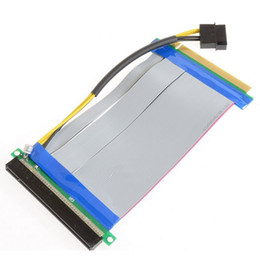 Riser Cable Australia - The New PCI-E Express 16X to 16x Riser Extender Card with Molex IDE Power & Ribbon Cable 20cm