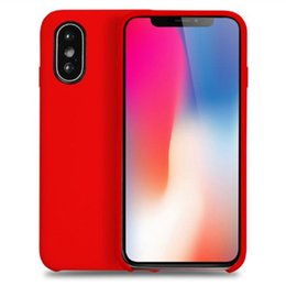 Chinese  Slim Liquid Silicone Phone Case for iPhone XS Max XR Cases Shockproof Back Cover for iPhone X 8 7 6S Plus manufacturers