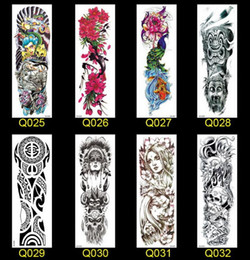 6e97894bc Hot Temporary Tattoo Sticker Skull clown Poker clock Design Full Flower Arm Body  Art Beckham Big Large Fake Tattoo Sticker New
