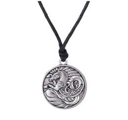 nautical chains UK - Seahorse Tibetan Silver Pendant Nautical Jewelry Necklaces Male Irish Amulet Symbols Rope Animal Necklace