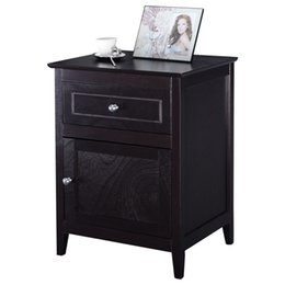 Chinese  Accent End Table Nightstand Bedroom Living Room Furniture Espresso Beechwood manufacturers