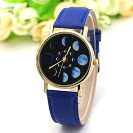 Discount moon watch women - Moon Change Phase Lunar Eclipse Watch Women Stylish Sports Watch PU Leather Bracelet Watches For Women Clock hour