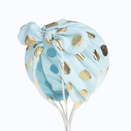 $enCountryForm.capitalKeyWord UK - Newborn baby Hats Bowknot Baby Girls Infant Newborn Cotton Dot Printing Beanies Hat Birthday Gifts Hats Hair Accessory
