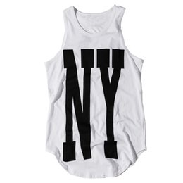 $enCountryForm.capitalKeyWord Australia - Knitted Urban Mens Tank Tops Summer 100 %Cotton Streetwear Striped Extended Casual Curved Hem Sleeveless Tops For Men