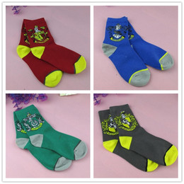 harry potter colleges 2018 - Harry Potter Printing Adults Socks Pure Cotton + Stretch Yarn Women Men's College Unisex Socks School Designer Bask