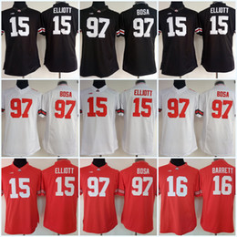 e142bfa37 Womens Ohio State Buckeyes 97 Nick Bosa 15 Ezekiel Elliott NCAA College Football  Jersey White Black Red High Quailty Fast Shipping