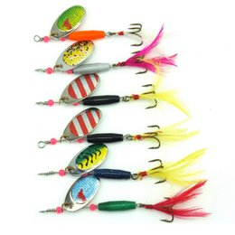 Spoon Hooks Wholesale NZ - Fishing spinner bait spoon lure metal baits treble hook isca artificial fish wobbler feeder carp spinnerbait