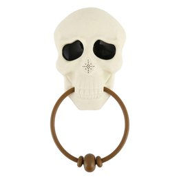 $enCountryForm.capitalKeyWord UK - New Halloween Horror Props Doorbell Halloween Decorations for Home Haunted House Party Supplies Glitter Creepy Skull Head