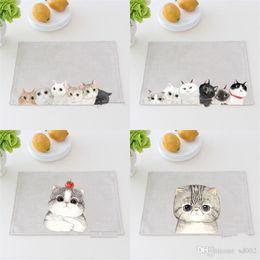 bamboo plates bowls 2018 - Cotton Linen Mat Originality Cartoon Cat Thickening Fabric Art Heat Insulation  sc 1 st  DHgate.com & Discount Bamboo Plates Bowls | Bamboo Plates Bowls 2018 on Sale at ...