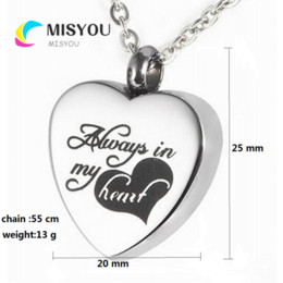 Discount cremation jewelry silver Custom engraving plane heart-shaped funeral cremation casket necklace pendant fashion jewelry.