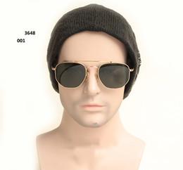 80371883dd Novedad 3648 Gafas de sol con montura hexagonal 51mm 54 mm Gafas de sol de  dos tamaños para hombres Protección UV con estuche y estuche gratis