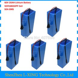 $enCountryForm.capitalKeyWord Australia - 60V 20AH Lithium ion battery pack 60V 20.3AH Use for panasonic 29PF 18650 cells with 67.2v 5A Charger 50A BMS 5PCS Wholesale