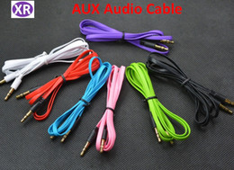 Hdtv Audio NZ - High-Grade 3.5mm Audio Cable Color Small Noodle Audio Cable 3.5mm Male to Male AUX Cable Mix Color DHL NO06