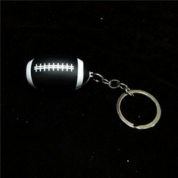 Keychain Pipes Australia - Black Keychain Football Shape Mini Smoking Pipes Hand Tobacco Cigarette Pipes Metal Hand Pipes