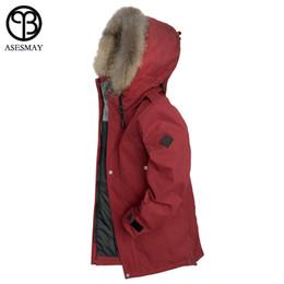 5a91a3da6de0 Asesmay 2018 New Arrival Men Winter Jackets For Natural Fur Down Coats  Thick Wellensteyn High Quality Goose Parka Casual Jacket