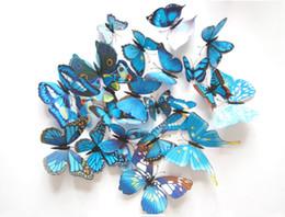 Small Butterfly Art Australia - 12pcs 3D Art Butterfly Decal Wall Sticker Home Decor Room Decoration Curtain refrigerator decoration