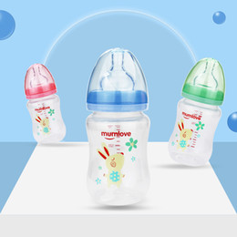 Wholesale Anti Colic Infant Milk Cup Feeding Baby Bottles oz Months Wide Neck Breast Like Soft Silicone Nipple BPA Free Easy Clean