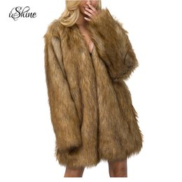 Long Length Hair Styles NZ - 2017 New Arrival Winter Warm Faux Fur Coats Long Sleeve Thicken Long Hair Style Solid Brand Fashion Overcoats Oversized Jackets