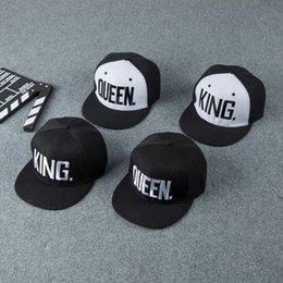 Fashion KING QUEEN Hip Hop Baseball Couple Caps Embroider Letter Adjustable  Snapback Sun Hats For Men Women Climbing 6 5hb W c812ef06ff79