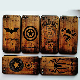 Free Cellphone Cases Australia - For iphone X 7 8 6 6s plus Cellphone Cases Imitation Wood Grain Soft TPU Back Cover The Avenger Mobile Phone Shell Case Hot Free DHL A776