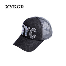70fedc506b6 XYKGR Summer ladies sun hat mesh hat embroidery letter breathable baseball  cap travel wild cap