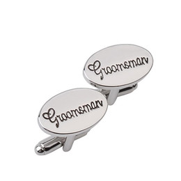 gift male friend UK - Mens Classic Engraved Groosmen Cufflinks For Male Wedding Shirts Popular The Best Men Cufflinks For Best Friend Gift
