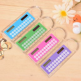 Free calculator online shopping - Mini Portable Solar Energy Calculator Creative Multifunction Ruler Students Gift Free DHL Shipping
