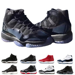 2018 Men 11s XI Basketball Shoes Jam True Blue Platinum Tint Gym Red Bred PRM Barons Concord 45 Sneaker Gown Prom midNight White 11 trainers