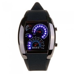 Orologio LED nero per orologi da polso da uomo