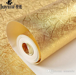 Discount embossed foil paper - Wholesale- Buy 5 GET 1 gold glitter wallpaper embossed ceiling murals wallpaper shining
