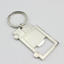 Beer Keychains UK - Zinc Alloy Metal Truck Shaped Keychains with Bottle Opener Novelty Men Beer Opener Party Gifts ZA6569