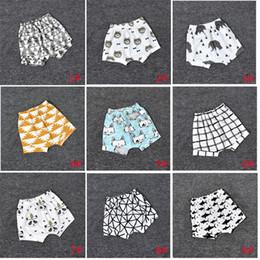 $enCountryForm.capitalKeyWord NZ - 18 Design Kids Lemon pp Pants Baby Toddlers Boy Girl INS Animal Fox Tent Wheels Geometric Fgure Pants Shorts Leggings KA598