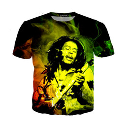 49e8a2c6053f6b Singer Reggae BOB Marley Newest Fashion Men Women Tops 3d Printing T-Shirt  Unisxe Funny Short Sleeved Tees 3D T-shirt N283
