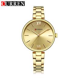 White Rose Pattern Australia - CURREN Brand Business Women Watches Luxury Watch Rose Gold Women Quartz Clock Creative Wood Pattern Dial Fashion Wristwatch 9017