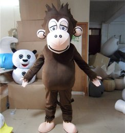 Monkey Halloween Costumes Canada - Adult size Monkey Mascot Costume Halloween Christmas Birthday Brown Monkey Baby Celebration Carnival Dress Full Body Props Outfit