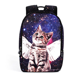 New Unisex Backpack Personality High Quality Teenager School Shoulder Bag Cute Angel Cat Printing Daypack For Young Girls & Boys from games joysticks suppliers