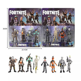doll decoration games 2018 - 3.5 Inch 4pcs set Fortnite Series Dolls Hand-made Fortress Night Doll game fortnite Toy Furniture Decoration Children&#0
