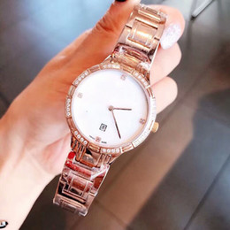 aa708cbe076 Luxury watch women diamond watches rose gold top quartz ladies Wristwatches  G1017 stainless steel famous brand designer iced out watch clock
