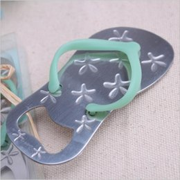 Party Favor Flip Flops NZ - New style flip flops bottle opener starfish slippers bottle opener wedding bridal shower favor guest gift for men 45pcs